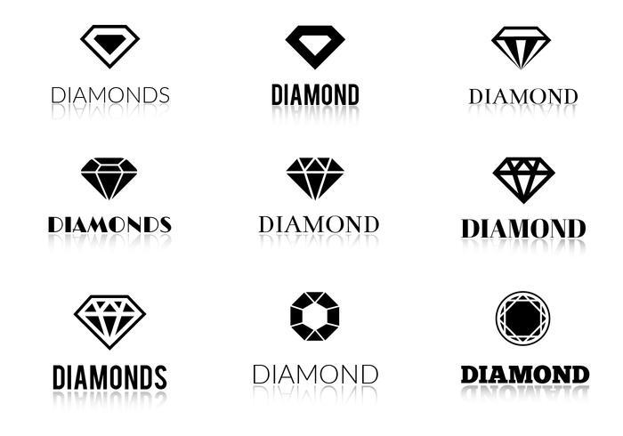 Logos de diamantes de vetores grátis