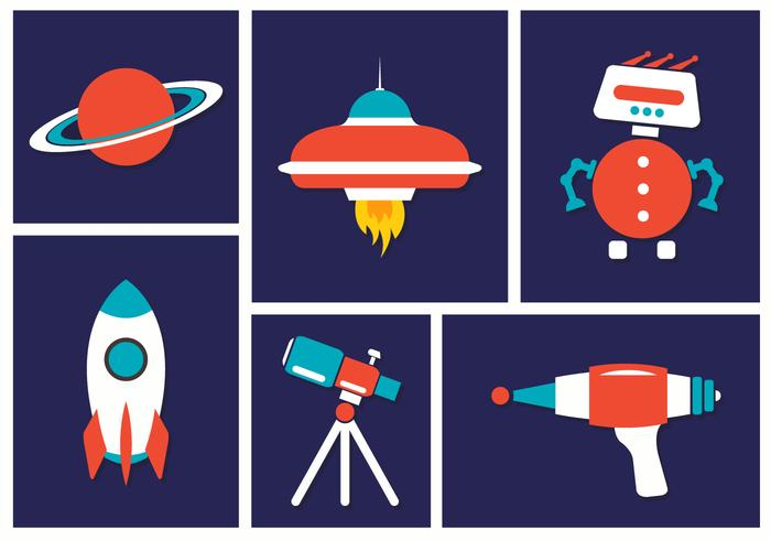 Ícones do vetor do espaço