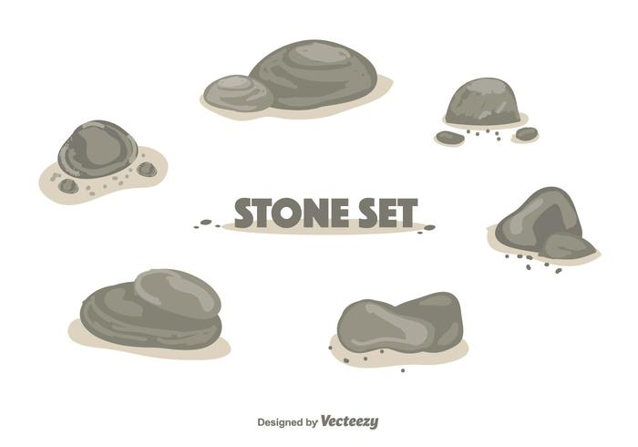 Vetor de conjunto de pedra