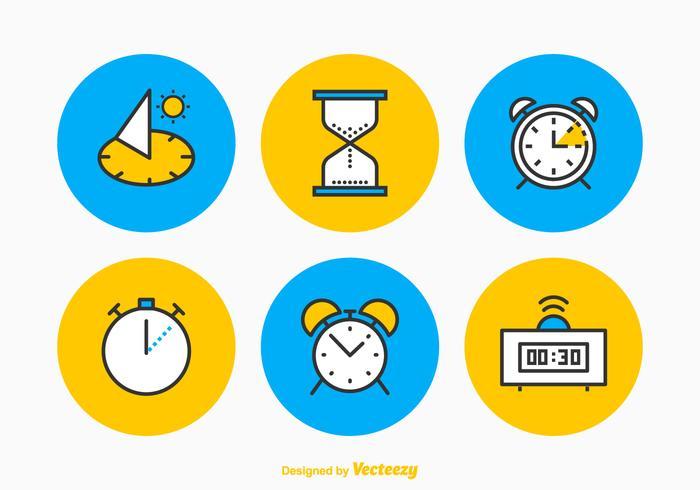 Conjunto de ícones de vetores de tempo livre
