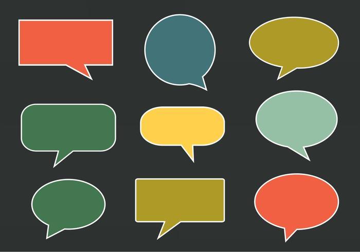 Imessagem de vetores grátis, bolhas de fala e comunicação