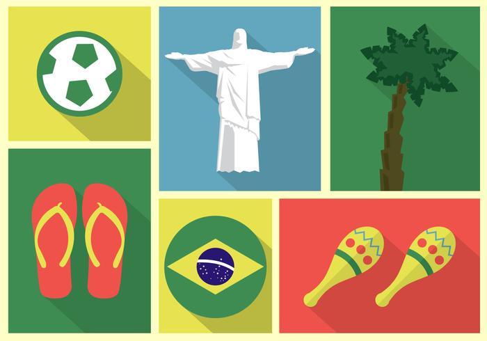 Coleção de vetores do Brasil
