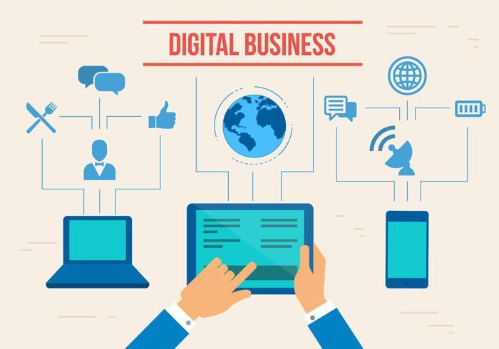 Vector de negócios digital gratuito