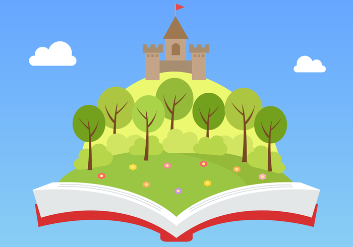 Vetor livre de livros de conto de fadas