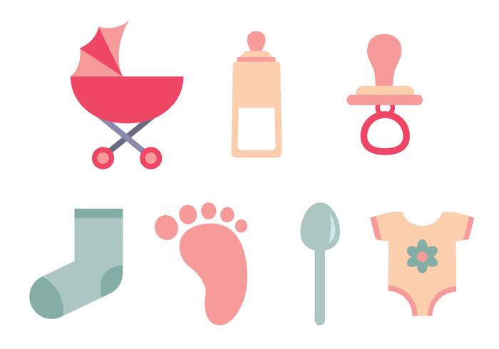 Vector grátis de elementos do bebê