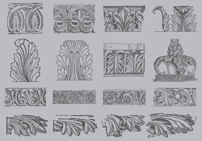 Vetores de ornamento Acanthus