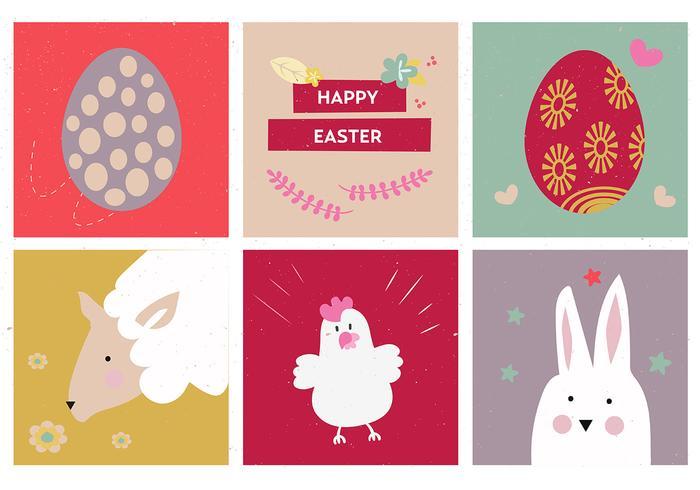 Ícones de vetor de ovo da Páscoa