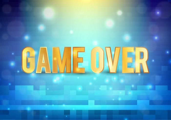 Mensagem de pixel vetorial grátis: jogo acabado vetor
