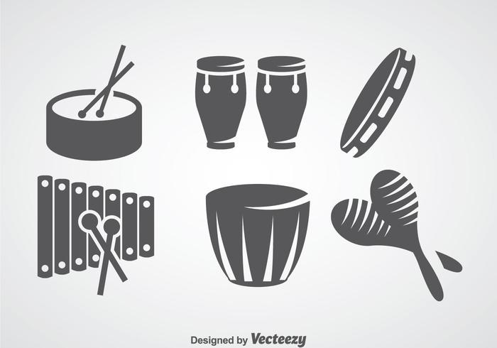 Conjuntos de vetores de instrumento de música de salsa