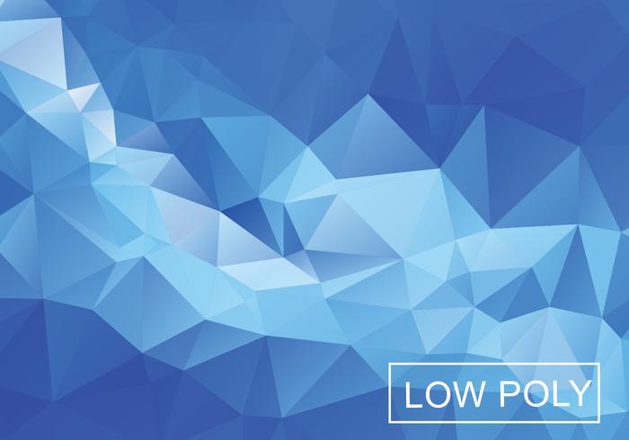 Fundo de mosaico poligonal de luz azul vetor