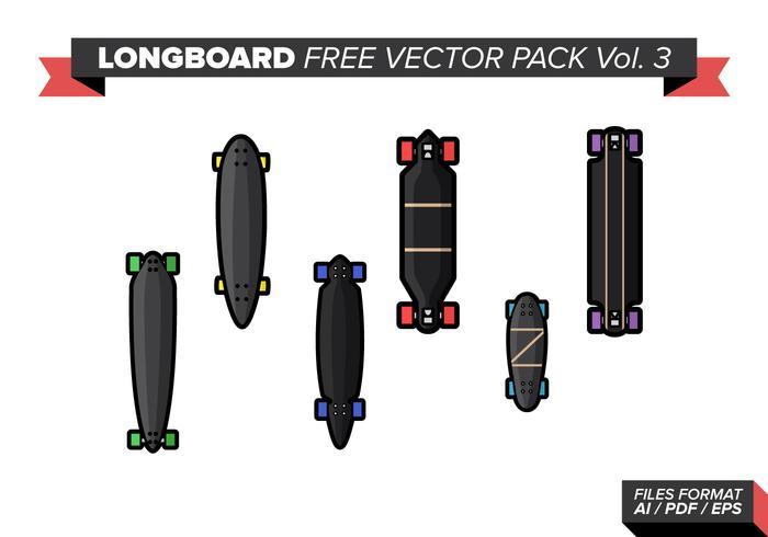 Pacote livre de vetores longboard vol. 3