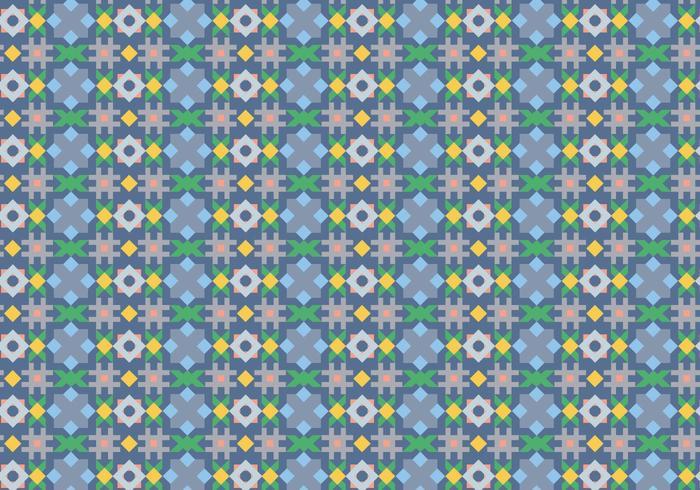 Padrão de mosaico abstrato vetor