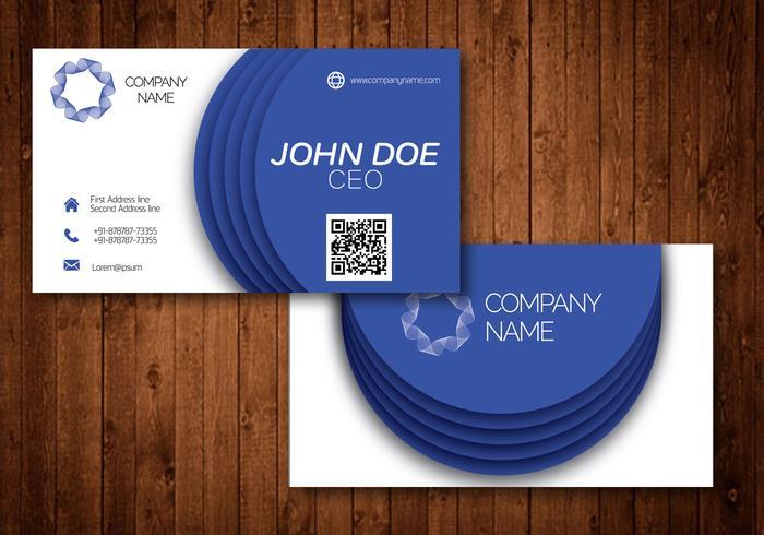 Cartão de visita criativo do círculo azul vetor