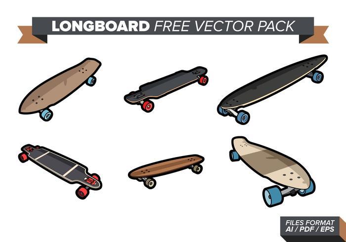 Pacote de vetores grátis Longboard