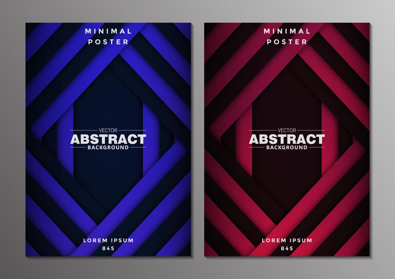 conjunto de design abstrato mínimo de capas vetor