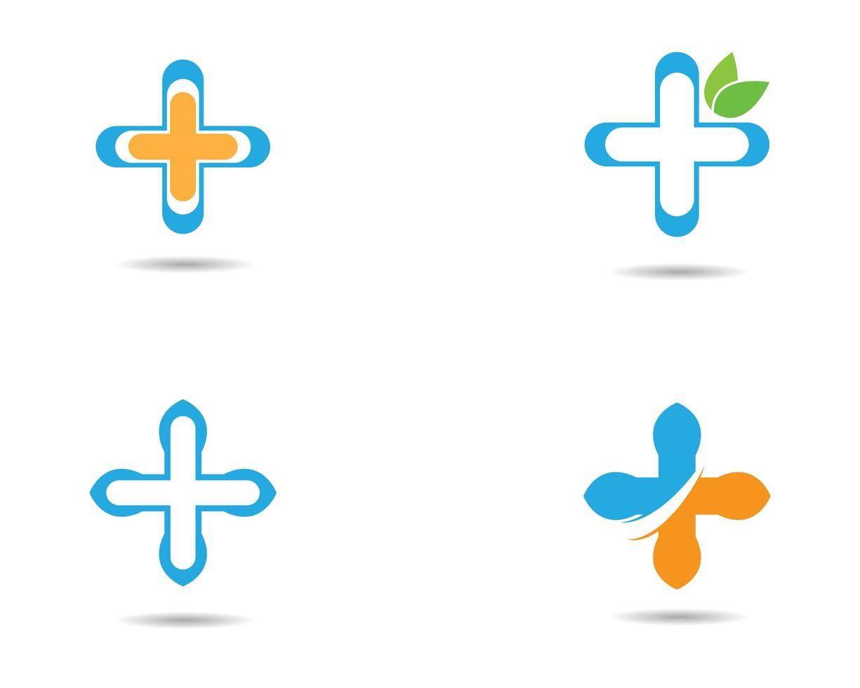 conjunto de ícones de cruz médica vetor