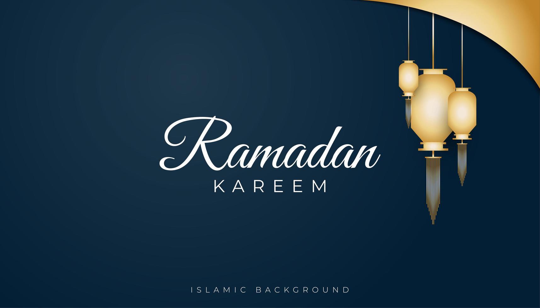 fundo islâmico elegante azul vetor