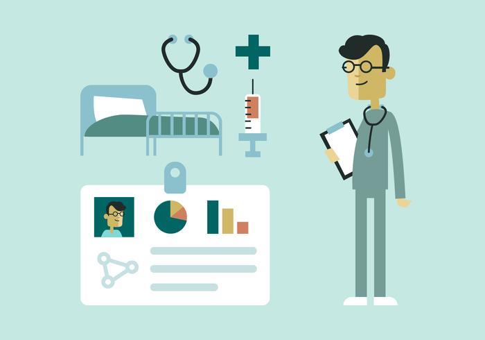 Elementos do médico e do hospital vetor
