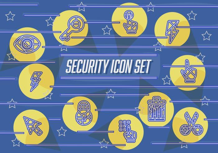 Ícones de vetores abstratos de segurança abstrata