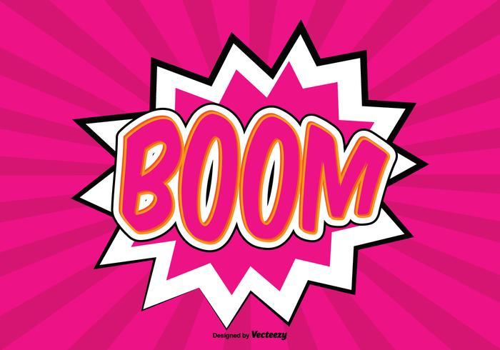Ilustração de fundo do boom comic style vetor