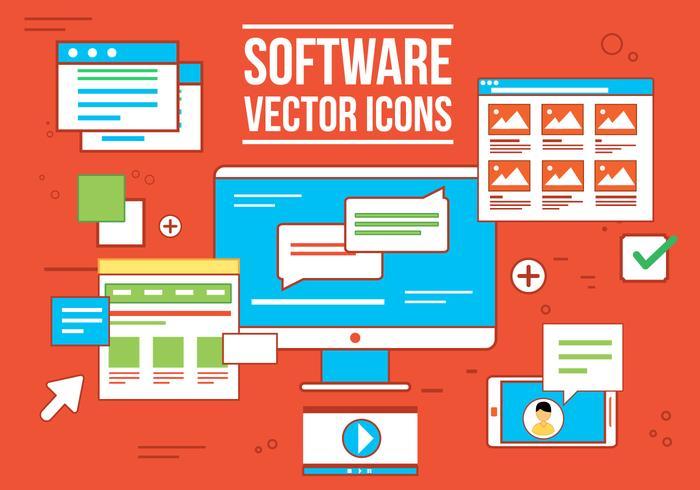 Ícones grátis do software Vecor vetor