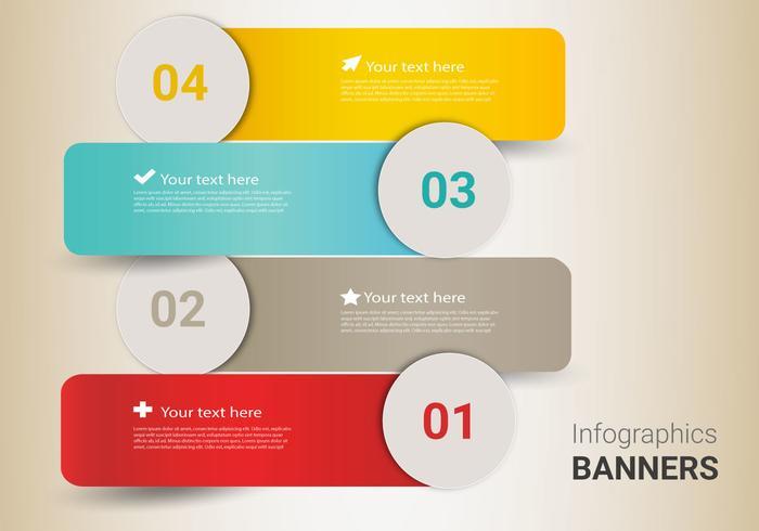 Vetor de banners infográficos gratuitos