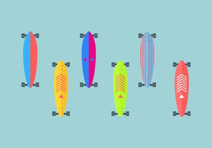 Vetor de longboard gratuito 2