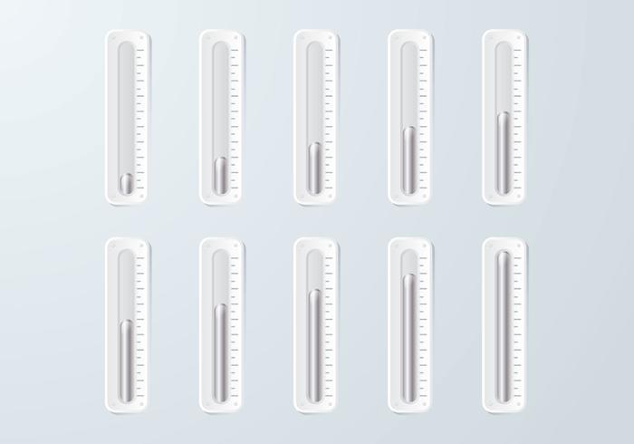 Termômetro de mercúrio vetor