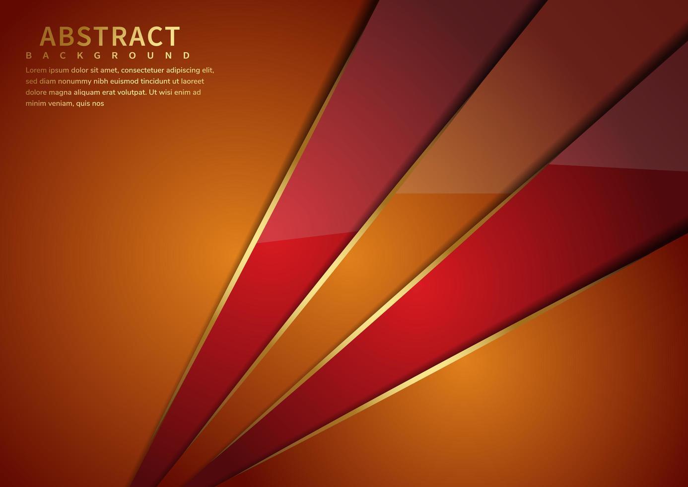 fundo brilhante ângulos laranja e vermelho vetor