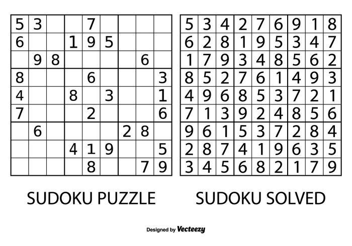 Vetor de quebra-cabeça sudoku