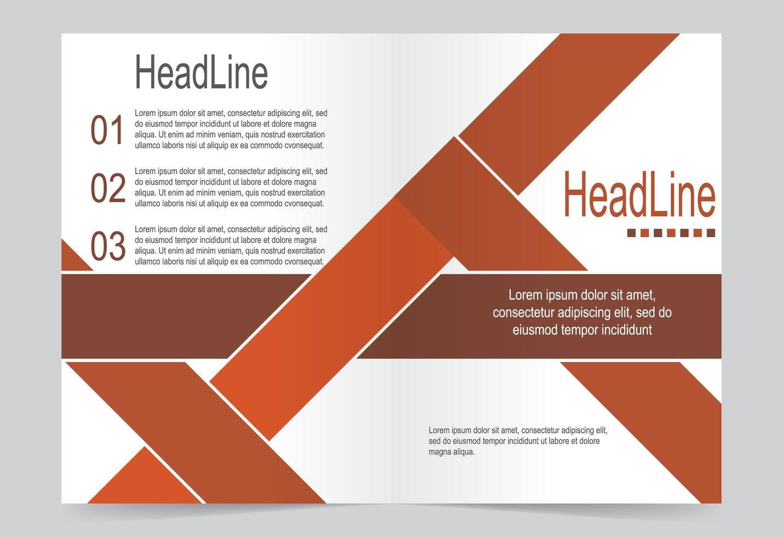 modelo de capa do relatório anual de manchete. vetor