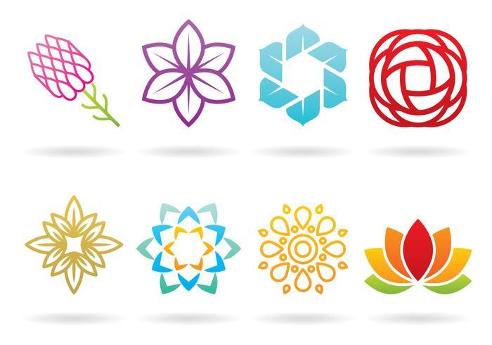 Logos florais vetor