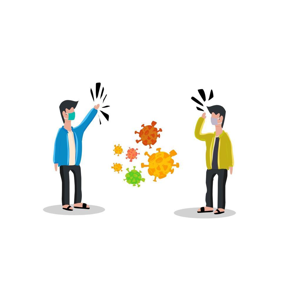 design plano de distanciamento social vetor