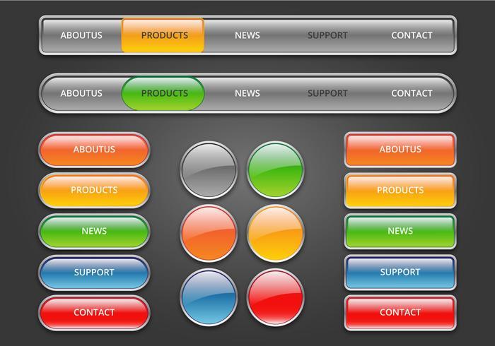 Botões de web gratuitos configurados 03 vetor