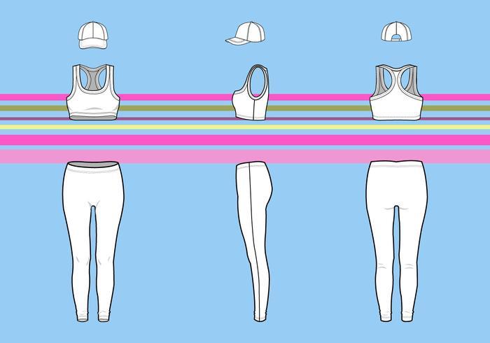 Vector de roupas femininas em branco grátis