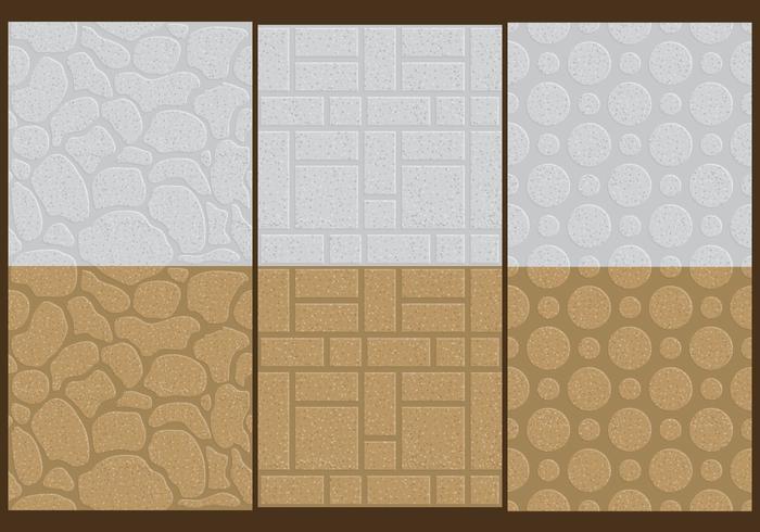 Texturas de parede de pedra vetor