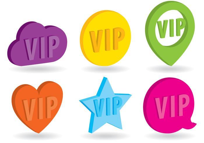 Vetores isométricos de ícones VIP
