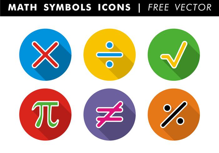 Simbolos de matemática Ícones Vector grátis