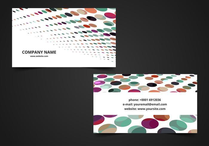 Cartão de visita colorido colorido grátis vetor