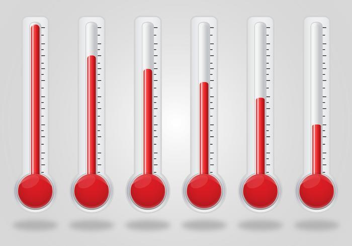 Conjunto de vetores de termômetro