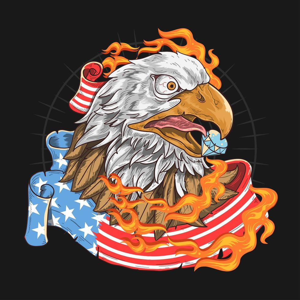emblema da águia dos eua vetor