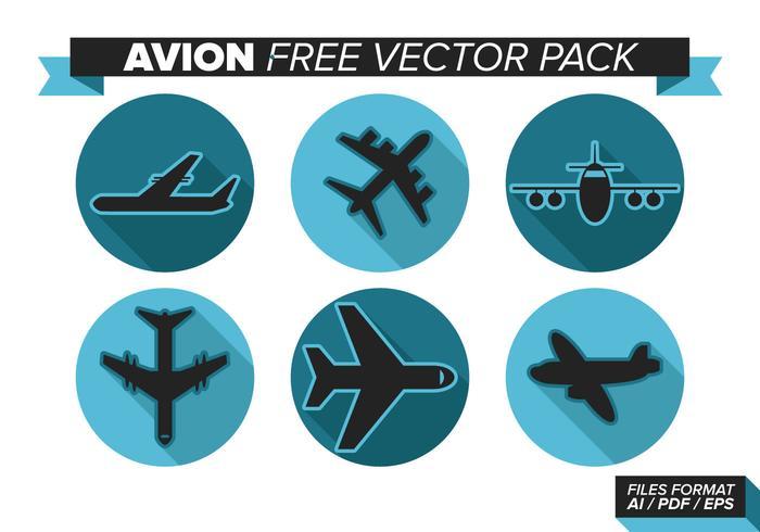 Pacote de vetores grátis para avião