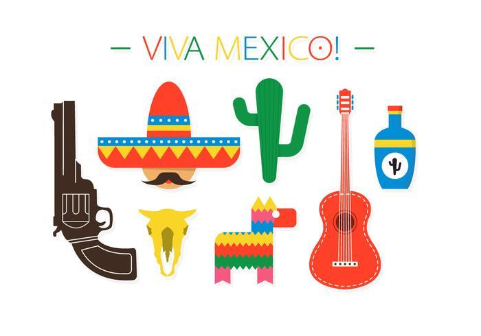 Elementos do vetor do México grátis