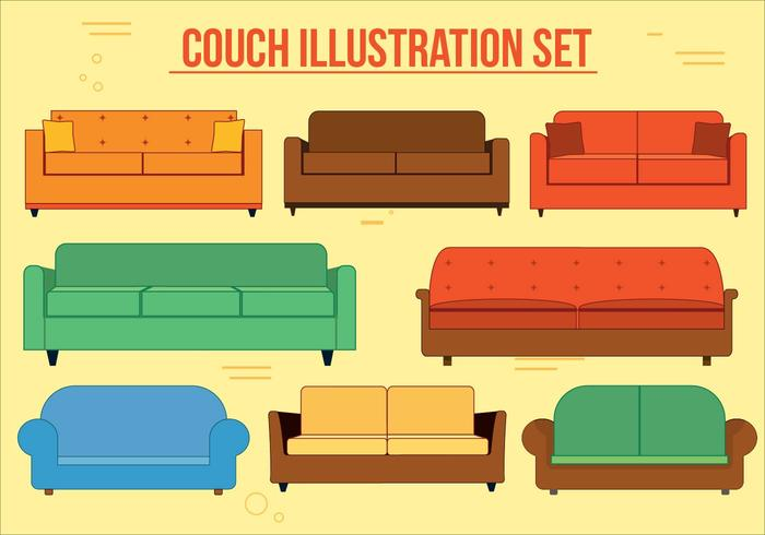 Conjunto de vetores de sofá grátis