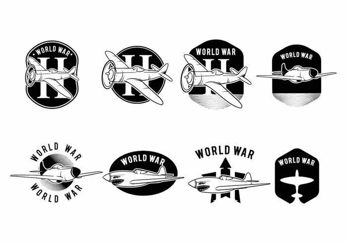 Avião Aéreo da Segunda Guerra Mundial vetor