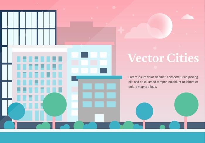 Fundo gratuito das cidades vetoriais vetor
