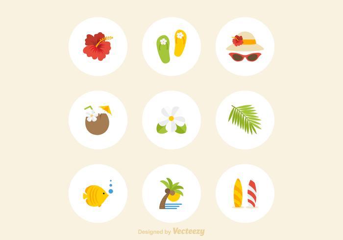 Vetor de ícones de havaí grátis