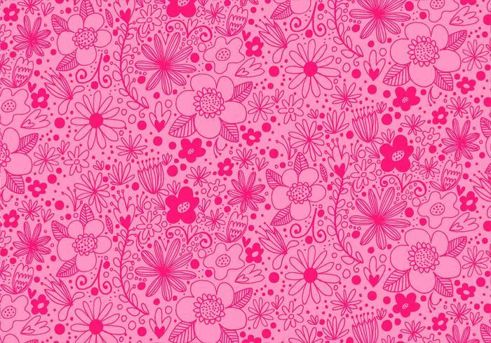 Padrão de flor de repetição rosa vetor