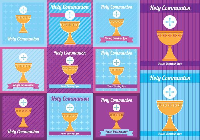 Cartão da Santa Comunhão vetor