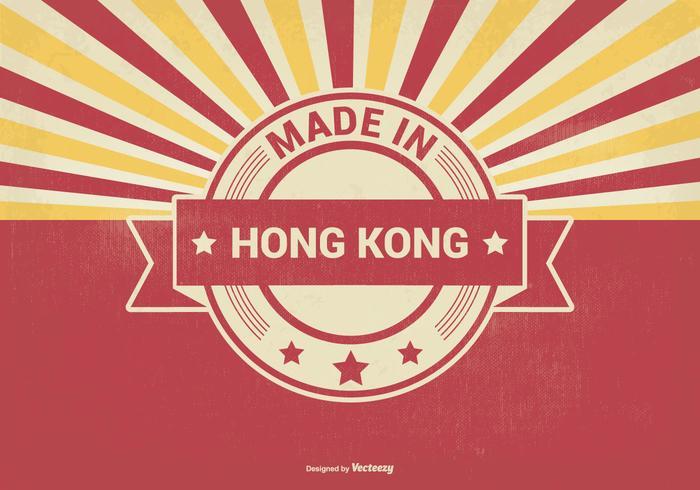 Feito em Hong Kong Illustration vetor
